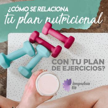 ¿Cómo se relaciona tu plan nutricional con tu plan de ejercicios?