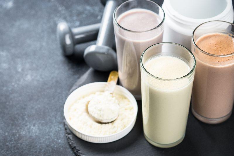 Dieta personalizada con batido de proteínas.