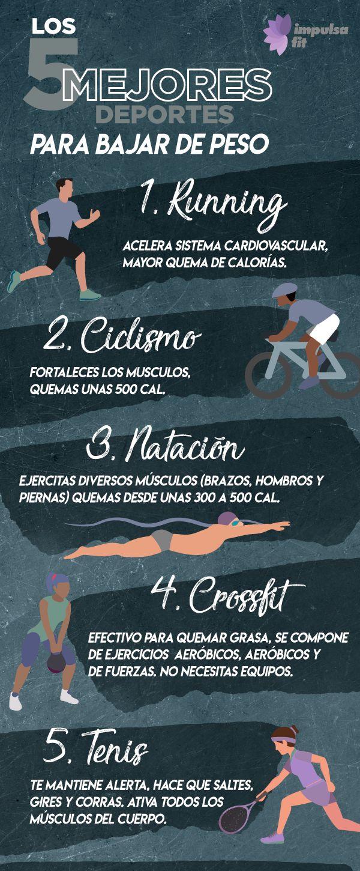Ciertos deportes te ayudaran a bajar de peso mas rapidamente, conoce cuales son