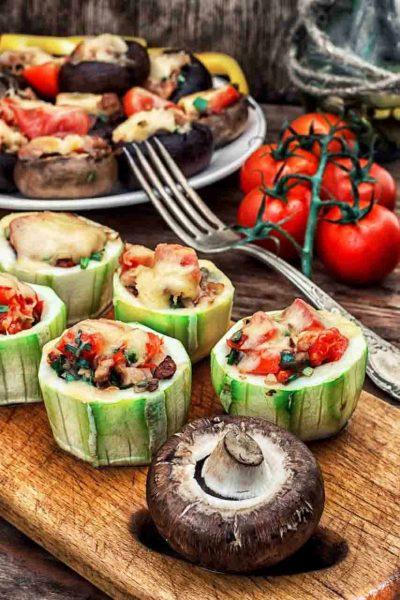 Pimientos rellenos de ensalada Surimi