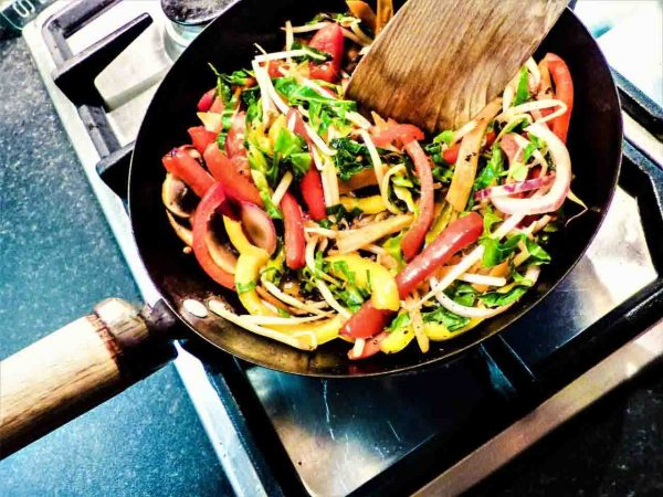 Wok salteado de verduras