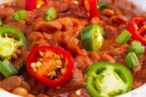 Ejote cocido con salsa de tomate