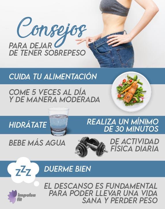 consejos para no tener sobrepeso