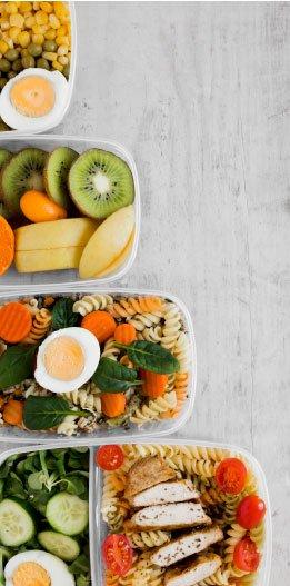 comida en envases