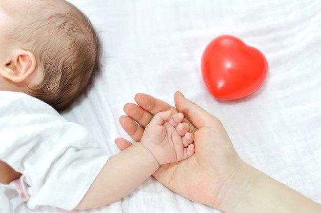 recién nacido corazón