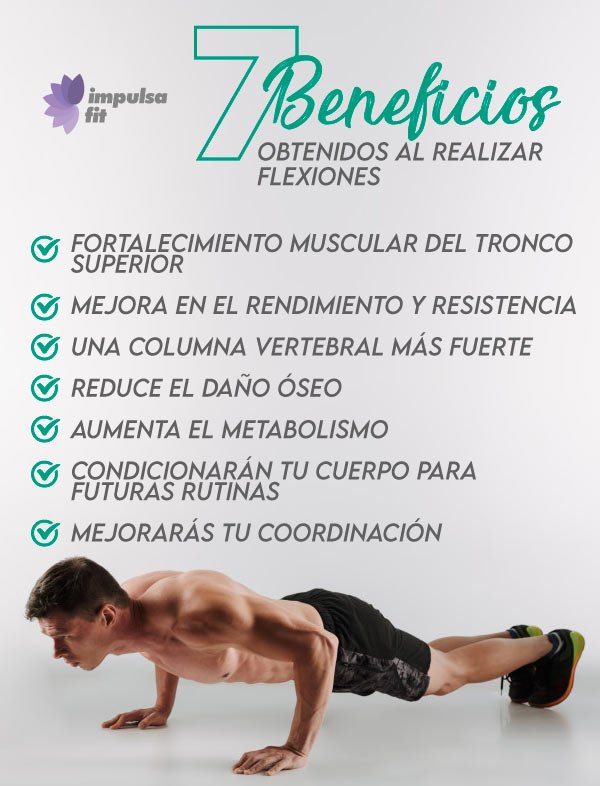 beneficios de las flexiones